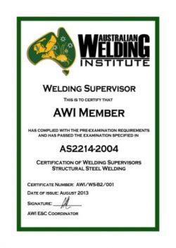 Welding Supervisors Exams