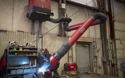 Maintenance welding at OMG using Statiflex 200-M Single Arm Base Unit, LFA4.1LC